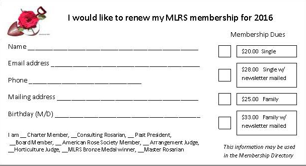 Membership form 2016